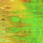 Art abstract acrylic and pencil background in vibrant green, yel — Stock Photo
