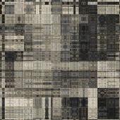 искусство абстрактного монохромный геометрический рисунок фона в бежевый, b — Стоковое фото