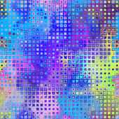 Art abstract pixel geometric pattern background in pink, blue, y — Stock Photo