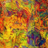 Art abstract colorful chaotic waves seamless pattern in Klimt style — Stok fotoğraf