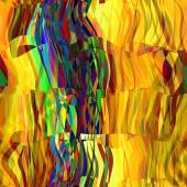 Art abstract colorful chaotic waves pattern in Klimt style — Stock Photo