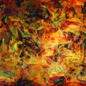 Art abstract colorful chaotic waves seamless pattern in Klimt st — Stock Photo