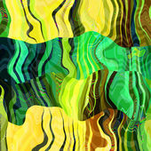 Art abstract colorful chaotic waves pattern background with gree — Stock Photo