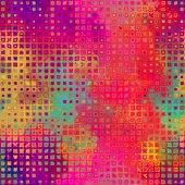 Art abstract pixel geometric pattern background in pink, orange, — Stock Photo