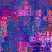 Art abstract colorful graphic background, geometric border styli — Stockfoto