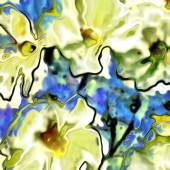 Art floral vintage blurred background with white and yellow viol — Stock Photo