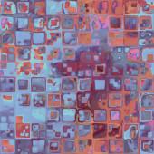 Umění abstraktní barevné geometrické bezešvé pattern, pozadí — Stock fotografie
