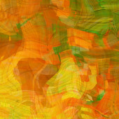 Art abstract colorful chaotic waves pattern, background in red, — Stock Photo