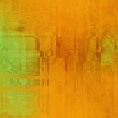 Kunst abstrakte farbenfrohe Grafik Hintergrund in Orange, Gold und gre — Stockfoto