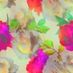 vintage arte blur acrílico padrão sem costura floral com rosa branca — Fotografia Stock  #73995101