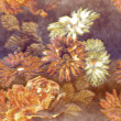 Art monochrome golden blurred vintage floral seamless pattern wi — Stock Photo #73996865