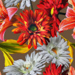 Art vintage floral seamless pattern with red and white gerberas  — Stock Photo #73997233