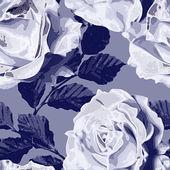 Искусство марочные монохромный акварель цветочные бесшовный паттерн с w — Стоковое фото