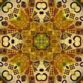 Art deco ornamental vintage pattern, S.4, monochrome background  — Stock Photo