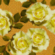 Art vintage floral seamless pattern  with tea white yellow roses — Stock Photo #74004769