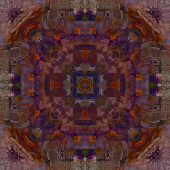 Art deco ornamental vintage pattern, S.41, dark background in br — Stock Photo