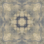 Art nouveau ozdobné vintage vzor, pouzité, monochromatický waterco — Stock fotografie