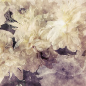 Art grunge floral warm sepia vintage paper textured watercolor b — Stock Photo