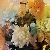 Art colorful grunge floral watercolor paper textured background  — Stock Photo
