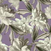 Art vintage floral seamless pattern  with white asters on pink b — Stock Photo