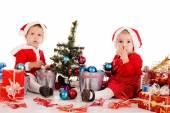 Two little santa — Stock Photo