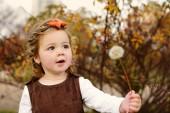 Fashion toddler girl in fall — Stock Photo