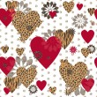 Seamless Valentine patterned texture  — Stock Vector #52854663