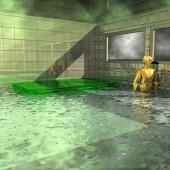 沐浴的陌生人 — 图库照片