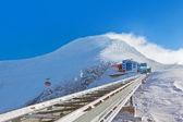 Bergen ski resort kaprun-oostenrijk — Stockfoto