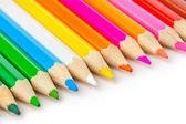 Veelkleurige potloden — Stockfoto
