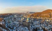 Salzburg Austria at sunset — Stock Photo
