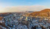 Salzburg Austria at sunset — Stock Photo