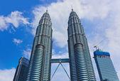 Twin towers at Kuala Lumpur (Malaysia) — Stock Photo