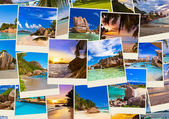 Stack of summer beach shots — Stock Photo