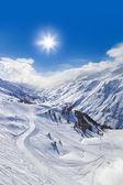 Mountain ski resort Hochgurgl Austria — Stock Photo