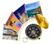 Spain travel images and compass (my photos) — Foto Stock