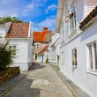 Street in old centre of Stavanger - Norway — Stock Photo #52944795
