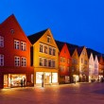 Famous Bryggen street in Bergen - Norway — Stock Photo #52949517
