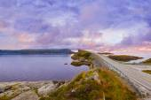 Fantastic bridge on the Atlantic road in Norway — Stock Photo
