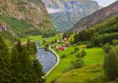 Village in Flam - Norway — Stock Photo