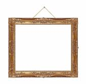 Retro frame on rope — Stock Photo