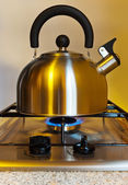 Stovetop whistling kettle — Stock Photo
