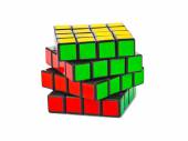 MOSCOW, RUSSIA - August 31, 2014: Rubik's cube puzzle isolated o — Stock Photo