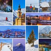 Collage of Austria images — 图库照片