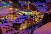 Mountains ski resort Solden Austria - sunset — Stock Photo