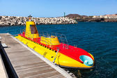 Touristic submarine at Tenerife - Canary Spain — Stock Photo
