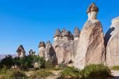 Rock formations in Cappadocia Turkey — Stock Photo
