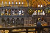 Mosaic interior in Hagia Sophia at Istanbul Turkey — Stock Photo