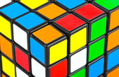 Cube puzzle background — Stok fotoğraf