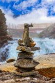 Stigfossen waterfall and viewpoint - Norway — Stock Photo